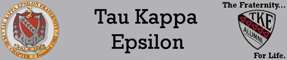 TKE_Header3 Tau Kappa Epsilon Letter Template on the candidate pin, omicron sigma, west florida, st jude, ohio state university, red carnation ball, illinois state, patrick rucinski,